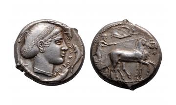Sicily, Syracuse, Tetradrachm 430 BC