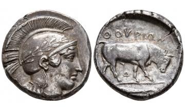 Italy, Lucania, Thurium, Stater ca. 420 BC, Ex M&M List, 1968