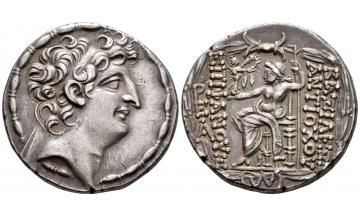 Seleucid Kingdom, Antiochos VIII, Grypos, 125-96 BC, Tetradrachm 109-96 BC, Ex Rogers Collection, 1925