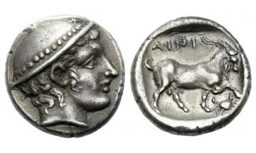 Thrace, Aenus, Tetrobol ca. 408-406 BC, Aenus
