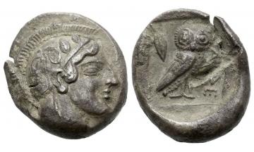 Attica, Athens, Didrachm ca. 465 BC, Athens