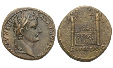 Roman Empire, Tiberius caesar, 9–14, As 12-14, Lugdunum