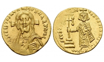 Byzantine, Justinian II, first reign 685-695, Solidus 692-695, Constantinopolis