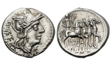 Roman Republic, Q. Caecilius Metellus, Denarius 130 BC, Rome