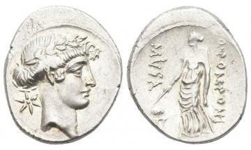 Roman Republic, Q. Pomponius Musa, Denarius 66 BC, Rome