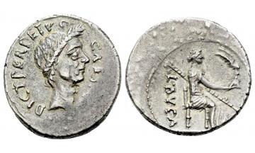 Roman Republic, C. Iulius Caesar and L. Aemilius Buca, Denarius 44 BC, Rome