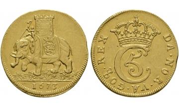 Denmark, Christian V, 1670-1699, Double Ducats 1672