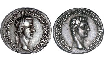 Roman Empire, Caligula, 37-41, Denarius, Lyon, very rare