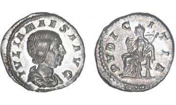 Roman Empire, Julia Maesa, 218-224, Denarius, Rome, rare in such grade