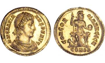 Roman Empire, Gratian, 367-383, Solidus, Constantinople, very rare