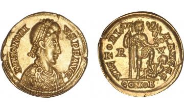 Roman Empire, Honorius, 393-423, Solidus, Ravenna, rare