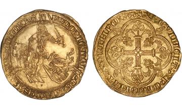 France, Provincial coinage, Flanders, Louis de Male, 1346-1384, Franc à cheval
