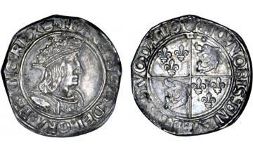 France, Kingdom, Francis I, 1515-1547, Testoon for Dauphine, 1st type, variety
