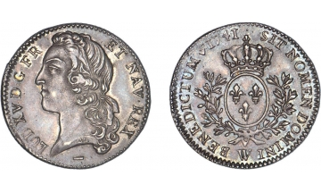 France, Kingdom, Louis XV, the Well-Beloved, 1715-1774, 1/5 Ecu 1741, Lille