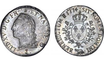 France, Kingdom, Louis XV, the Well-Beloved, 1715-1774, Ecu 1774