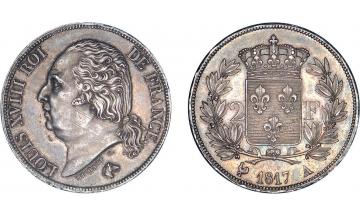 France, Louis XVIII, 1814-1824, 2 Francs 1817, Paris