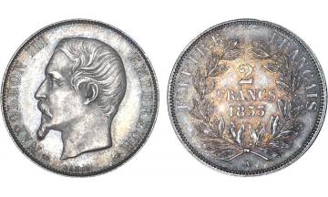 France, Napoleon III, 1852-1870, 2 Francs 1853, Paris