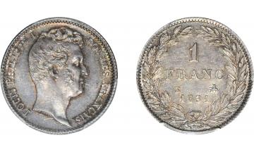 France, Louis-Philippe I, 1830-1848, 1 Franc 1831, Rouen