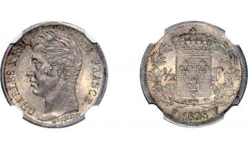 France, Charles X, 1824-1830, 1/2 Franc 1828, Lille
