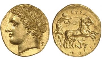 Sicily, Syracuse, 60 Litrae Decadrachm 288-279 BC, beautiful style