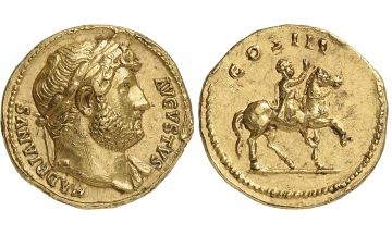 Roman Empire, Rome, Hadrian, 117-138, Aureus 117-138