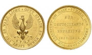 Germany, Frankfurt, Gold Medal of 5 Ducats 1814