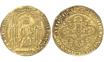 France, Philippe VI, 1328-1350, Double d'or 1340, rare