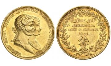 Germany, Kingdom of Westphalia, Hiernoymus Napoleon, 1807-1813, Goldmedal 1811, weight of 12 Ducats