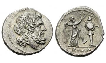 Roman Republic, L series, Victoriatus ca. 214-212, Luceria