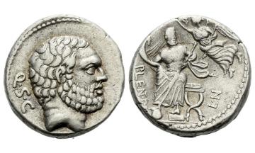 Roman Republic, P. Cornelius Lentulus Spinther, Denarius 74 BC, Rome