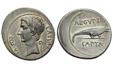 Roman Empire, Octavian, 32–29 BC, Denarius ca. 29-27 BC, Ephesus