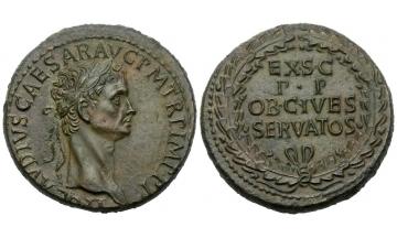 Roman Empire, Claudius, 41–54 , Sestertius ca. 50-54, Rome
