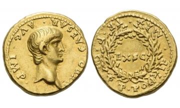 Roman Empire, Nero augustus, 54–68, Aureus 57-58, Rome