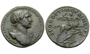 Roman Empire, Trajan augustus, 98 – 117 , Sestertius ca. 107-110, Rome