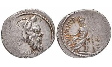 Roman Republic, C. Vibius C.f. C.n. Pansa Caetronianus, Denarius 48 BC, Rome