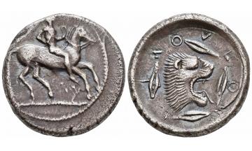 Sicily, Leontini, Didrachm ca. 470 BC, Ex Cahn (1930) etc.