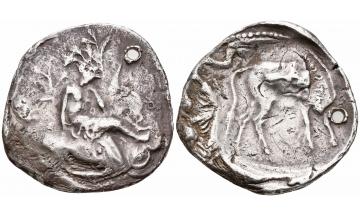 Crete, Gortyna, Stater ca. 330-270 BC, Ex Collection Photiadis Pacha (1890)
