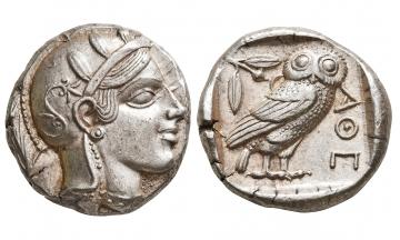 Attica, Athens, Tetradrachm ca. 449-440 BC, charming portrait