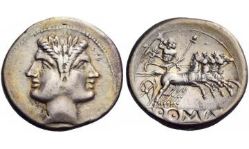 Roman Republic, Anonymous, 225-215 BC, Didrachm, Rome