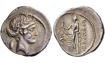 Roman Republic, Q. Pomponius Musa, 66 BC, Denarius, Rome
