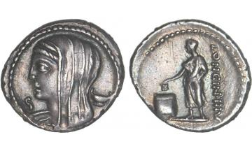 Roman Republic, L. Cassius Longinus, 63 BC, Denarius, Rome