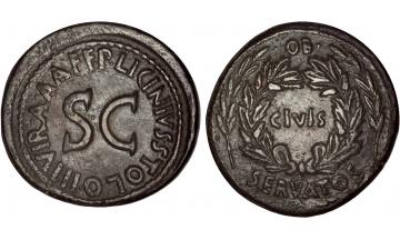 Roman Empire, Augustus, 27 BC - AD 14, Sestertius, Moneyers' series, Licinia