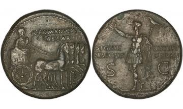 Roman Empire, Caligula, 37-41, in honour of Germanicus, Dupondius, Rome