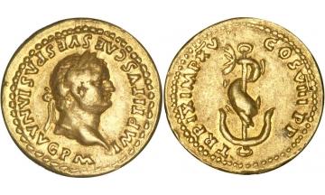 Roman Empire, Titus, 79-81, Aureus, very rare