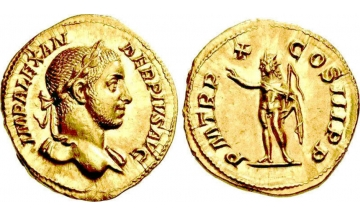 Roman Empire, Severus Alexander, 222-235, Aureus, Rome
