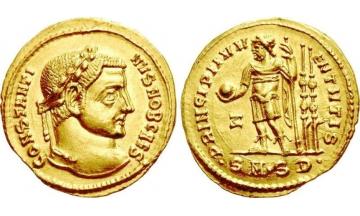 Roman Empire, Constantine I the Great as Caesar, 306-307, Aureus, Sofia