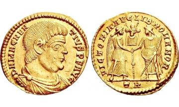 Roman Empire, Magnentius, 350-353, Solidus