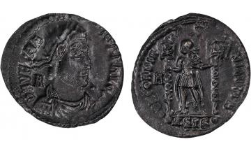 Roman Empire, Vetranio, 350, Maiorina (Billon), SIS A