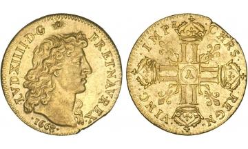 France Kingdom, Louis XIV the Great, 1643-1715, Louis d'or 1668, Paris