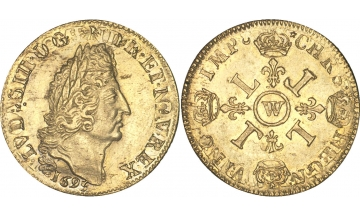 France Kingdom, Louis XIV the Great, 1643-1715, 2 Louis d'or 1695, Lille